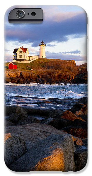 Nubble Lighthouse iPhone Cases - The Nubble Lighthouse iPhone Case by Steven Ralser