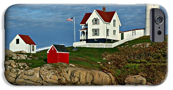 Nubble Lighthouse iPhone Cases - The Nubble iPhone Case by Nikolyn McDonald