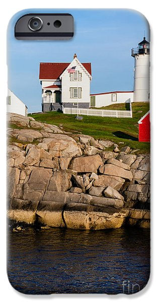 Nubble Lighthouse iPhone Cases - The Nubble York Maine iPhone Case by Dawna  Moore Photography