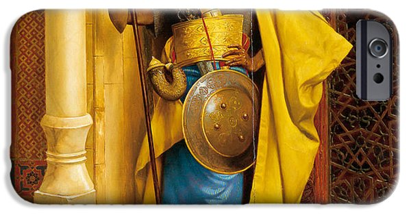 Deutsch iPhone Cases - The Nubian Palace Guard iPhone Case by Ludwig Deutsch