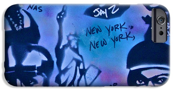 Jay Z Paintings iPhone Cases - The NYC side iPhone Case by Tony B Conscious