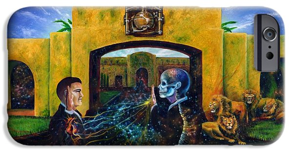 Metaphysical Paintings iPhone Cases - The Oath iPhone Case by Kd Neeley