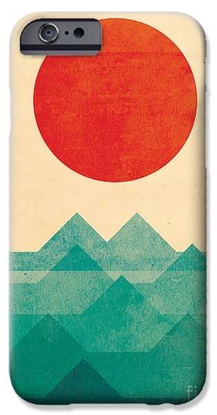 The Ocean the sea the wave iPhone Case by Budi Kwan