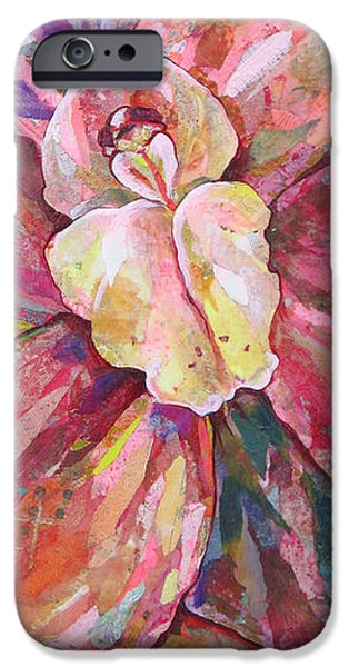 Tear Paintings iPhone Cases - The Orchid iPhone Case by Shadia Zayed