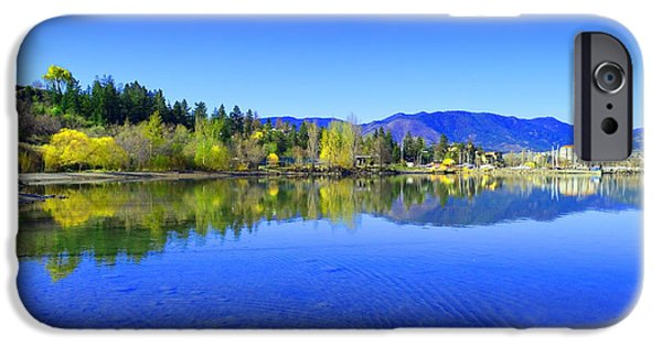 Willow Lake iPhone Cases - The Okanagan Blues iPhone Case by Tara Turner