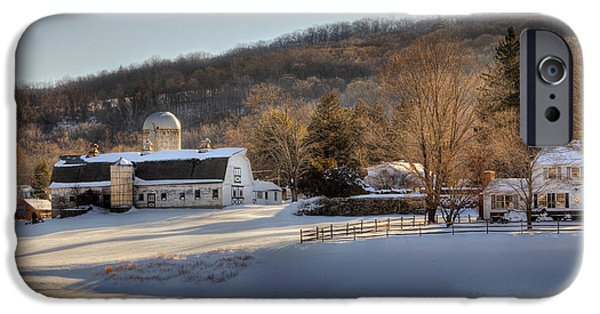 Connecticut Farm iPhone Cases - The Ol Homestead iPhone Case by Bill  Wakeley