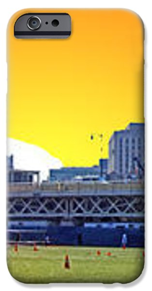 The Old and New Yankee Stadiums Side by Side at Sunset iPhone Case by Nishanth Gopinathan