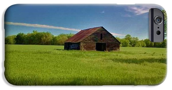 Old Barn Poster Photographs iPhone Cases - The Old Barn On Treaty Road iPhone Case by PainterArtist FIN
