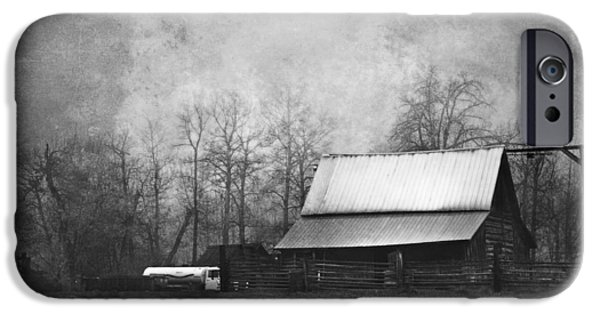 Barn Print Photographs iPhone Cases - The Old Barn iPhone Case by Theresa Tahara