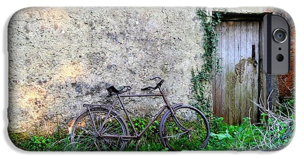 Famine iPhone Cases - The Old Bike in the Irish Countryside iPhone Case by Bill Cannon