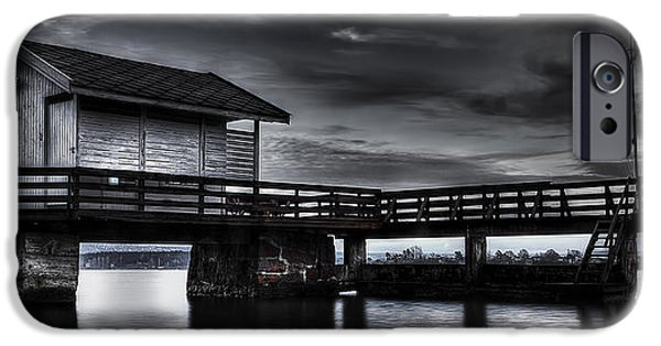 Norway iPhone Cases - The Old Boat House iPhone Case by Erik Brede