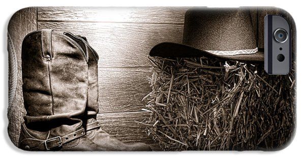 Bale iPhone Cases - The Old Boots iPhone Case by Olivier Le Queinec