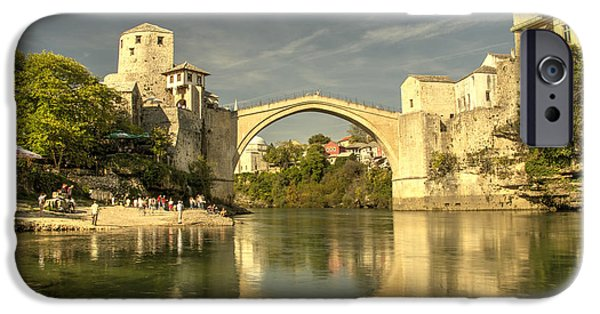 Staris iPhone Cases - The Old Bridge at Mostar iPhone Case by Rob Hawkins