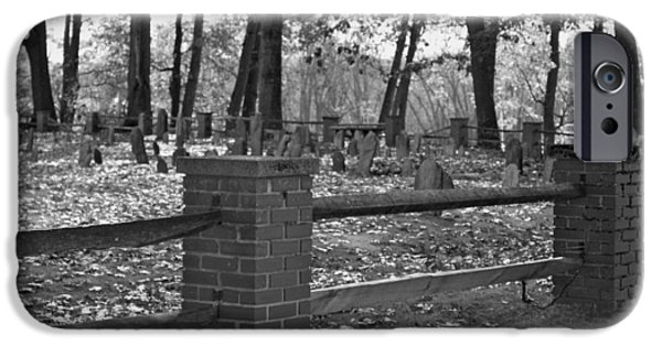 Final Resting Place iPhone Cases - The Old Burying Ground iPhone Case by Robin EL-Hachem