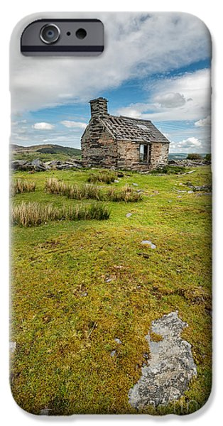 Ruins Digital Art iPhone Cases - The Old Cottage iPhone Case by Adrian Evans