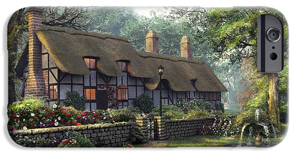 Pathway Digital iPhone Cases - The Old Cottage iPhone Case by Dominic Davison