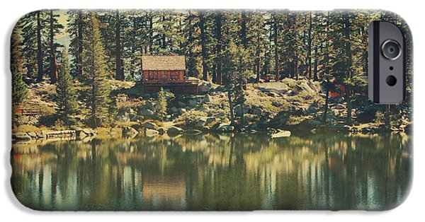 Lake iPhone Cases - The Old Days by the Lake iPhone Case by Laurie Search