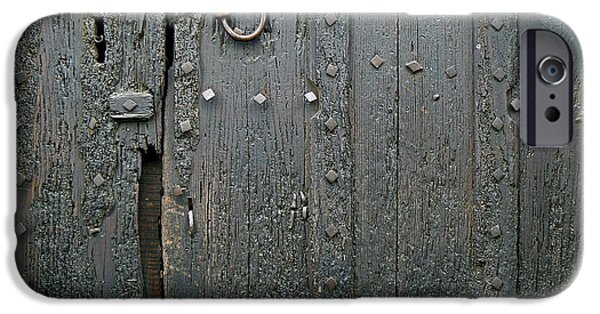 Cathar Country iPhone Cases - The Old Door iPhone Case by France  Art
