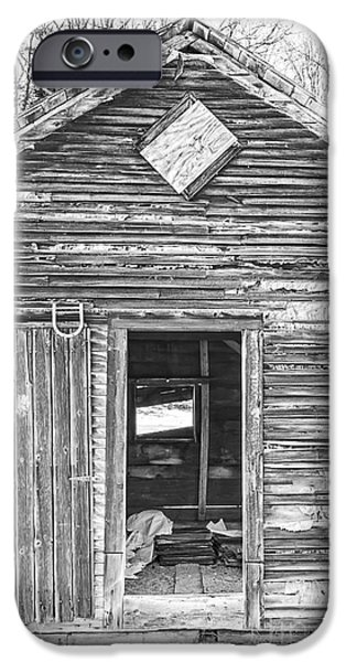 Wooden Building iPhone Cases - The Old Farm Shed iPhone Case by Edward Fielding