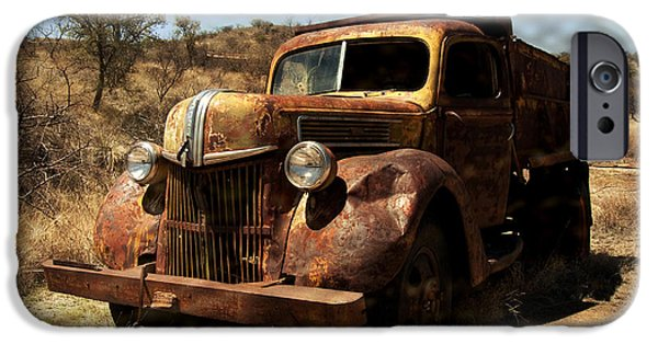 Rust iPhone Cases - The Old Ford iPhone Case by Lucinda Walter