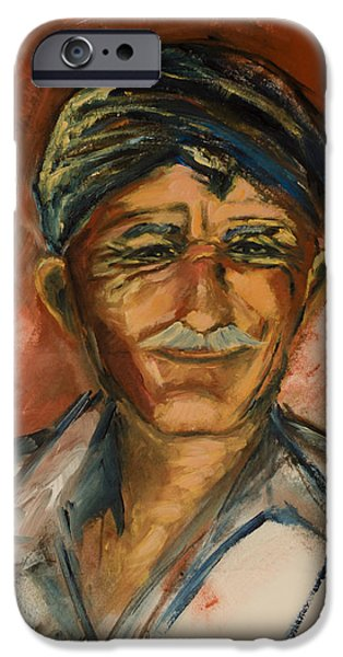 Friendly iPhone Cases - The Old Greek Man iPhone Case by Elise Palmigiani