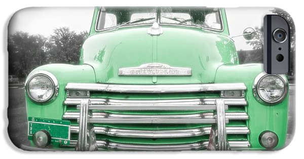 1940s iPhone Cases - The Old Green Chevy Pickup Truck iPhone Case by Edward Fielding