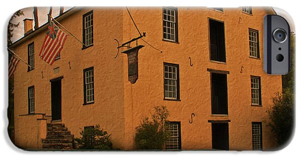Grist Mill iPhone Cases - The Old Grist Mill iPhone Case by Michael Porchik