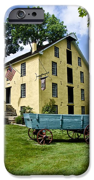 Grist Mill iPhone Cases - The Old Grist Mill near Valley Forge iPhone Case by Bill Cannon