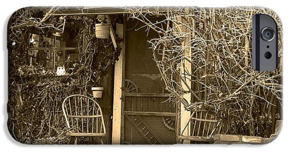 Genoa Bar iPhone Cases - The Old House in Genoa Nevada iPhone Case by Artist and Photographer Laura Wrede