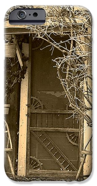 The Old House in Genoa Nevada iPhone Case by Artist and Photographer Laura Wrede