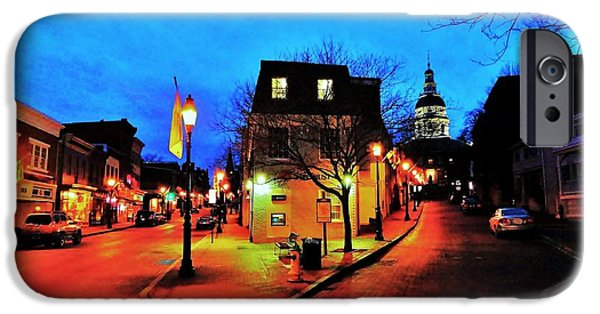 Annapolis Maryland iPhone Cases - The Old Line Capitol iPhone Case by Benjamin Yeager
