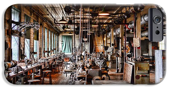Machinery iPhone Cases - The Old Machine Shop iPhone Case by Paul Ward