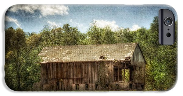 Old Barns iPhone Cases - The Old Mack Barn iPhone Case by Pamela Baker