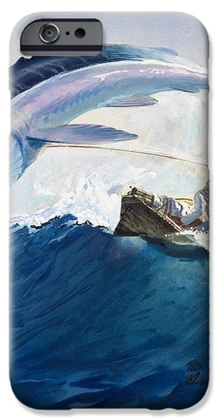 The Old Man and the Sea iPhone Case by Harry G Seabright