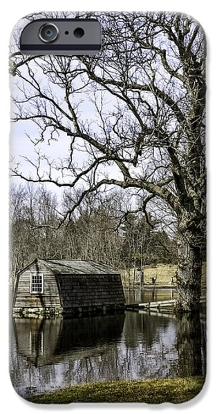 Concord Massachusetts iPhone Cases - The Old Manse Boathouse iPhone Case by Betty Denise