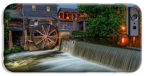 Grist Mill iPhone Cases - The Old Mill at twilight iPhone Case by Anthony Heflin