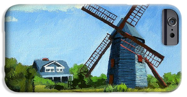 Chatham Paintings iPhone Cases - The Old Mill Cape Cod Massachusetts iPhone Case by Christine Hopkins