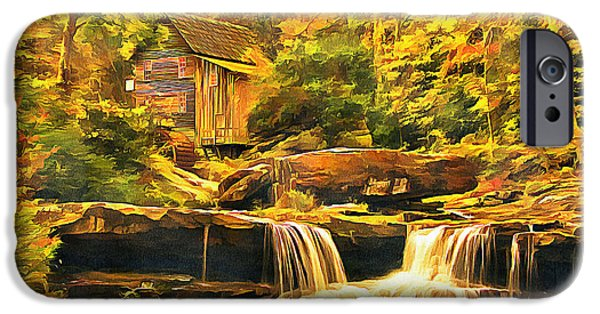 Grist Mill Mixed Media iPhone Cases - The Old Mill Stream iPhone Case by Marion Daly