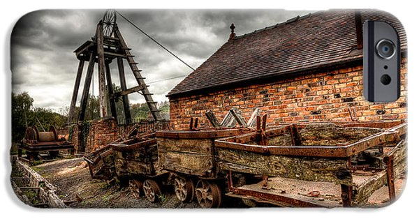 Industry Digital Art iPhone Cases - The Old Mine iPhone Case by Adrian Evans
