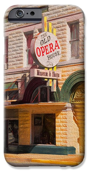 Haunted House iPhone Cases - The Old Opera House iPhone Case by Kim Hojnacki