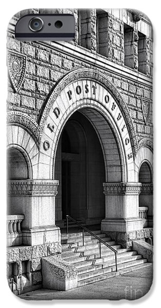 D.c. iPhone Cases - The Old Post Office Pavilion  iPhone Case by Olivier Le Queinec