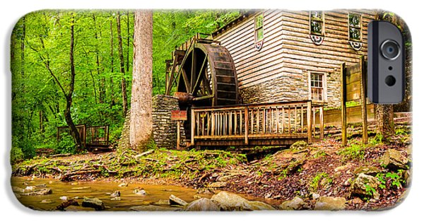 Grist Mill iPhone Cases - The Old Rice Mill in Tennessee iPhone Case by Gregory Ballos