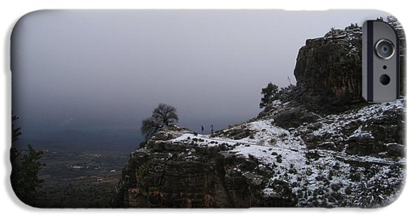 Dog In Landscape iPhone Cases - The Old Rock  iPhone Case by Boultifat Abdelhak badou