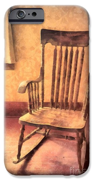 Rocking Chairs Photographs iPhone Cases - The Old Rocker iPhone Case by Edward Fielding