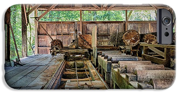 Recently Sold -  - Work Tool iPhone Cases - The Old Sawmill iPhone Case by Betty Depee