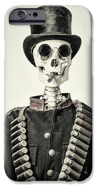 Hat iPhone Cases - The Old Soldier II iPhone Case by Martin Bergsma
