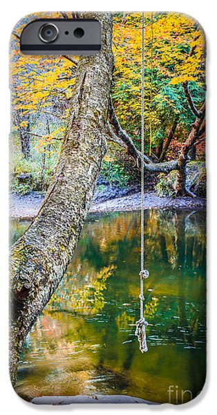 Swimming iPhone Cases - The Old Swimming Hole iPhone Case by Edward Fielding
