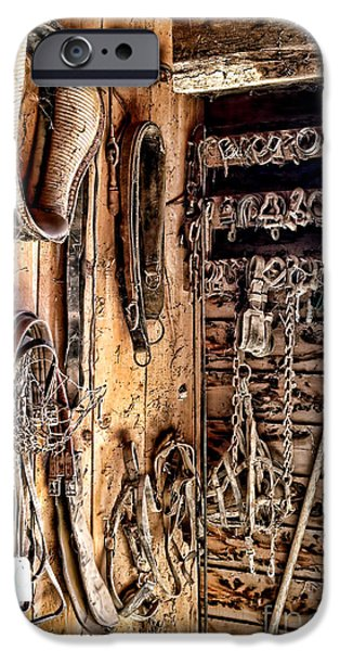 Tack iPhone Cases - The Old Tack Room iPhone Case by Olivier Le Queinec