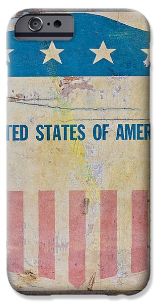 Old Glory iPhone Cases - The Old Tag iPhone Case by Martin Bergsma
