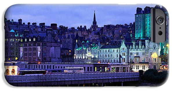 Old North Bridge iPhone Cases - The Old Town Edinburgh Scotland iPhone Case by Panoramic Images